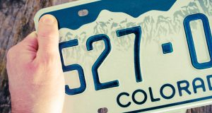 Colorado license plate